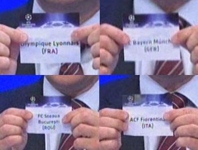 Die vier Mannschaften der Gruppe F